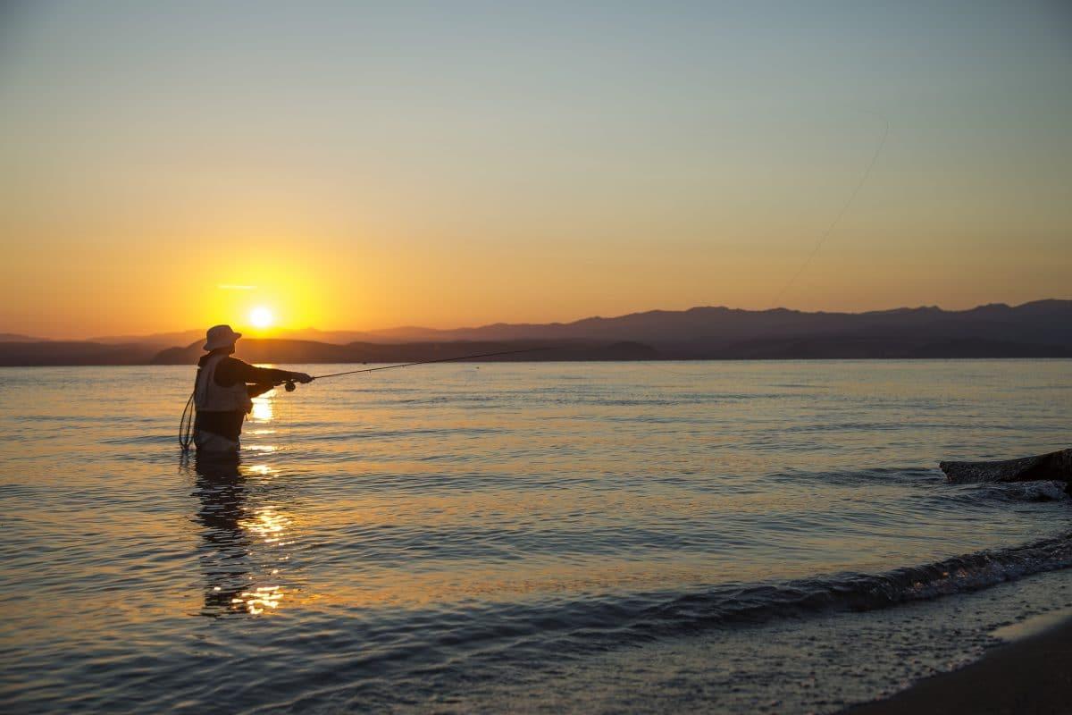 Pêche à la mouche en Nouvelle Zélande sur le Great Lake Taupo