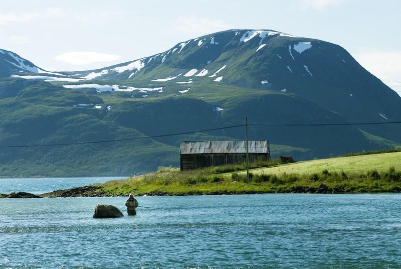 Pêche à Lyngen, dans le comté de Troms