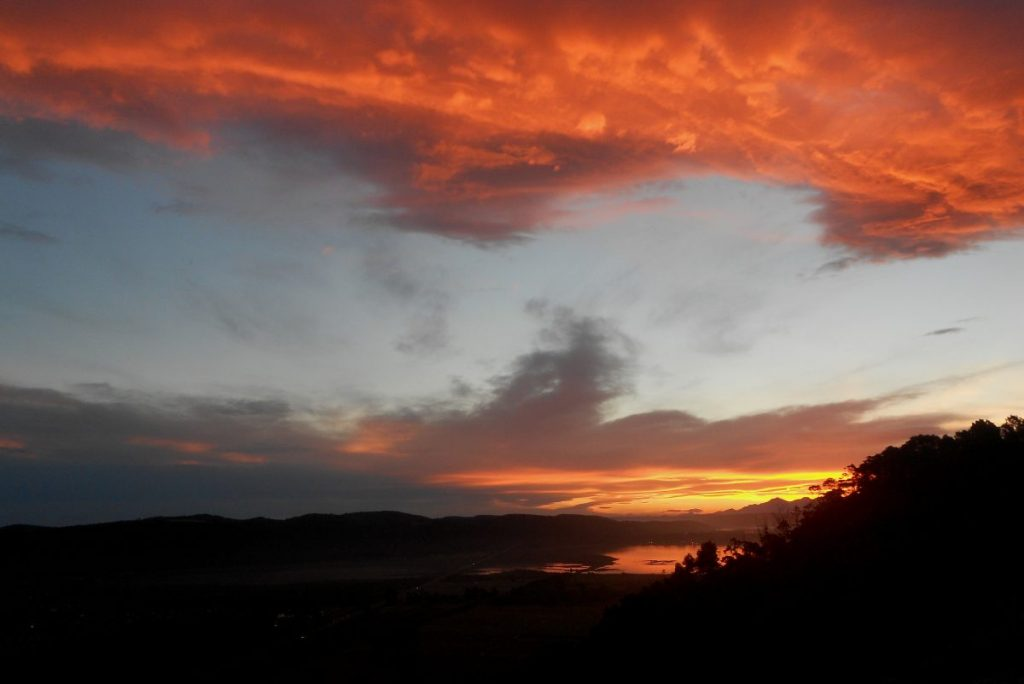 sunset en afrique du sud