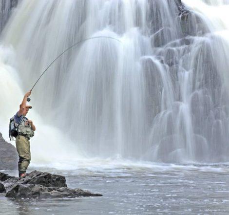 Pêche à la mouche sur la Dead River