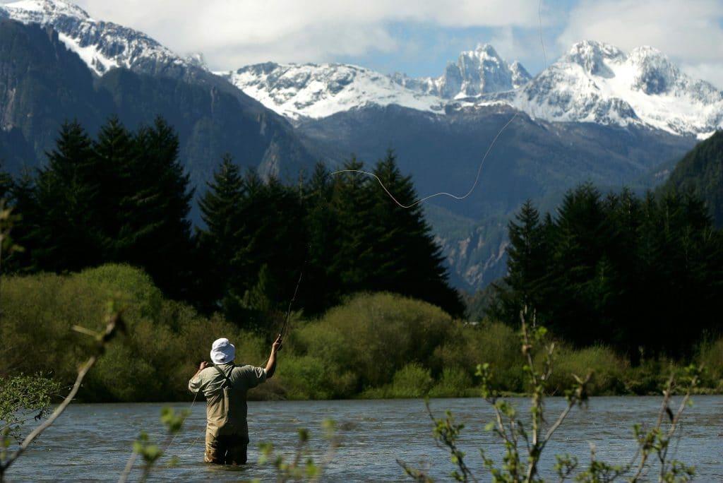 Pêche au Chili sur le Rio Aysen