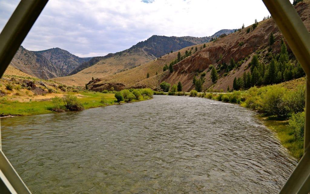 Pêcher dans l'Idaho sur la Salmon River
