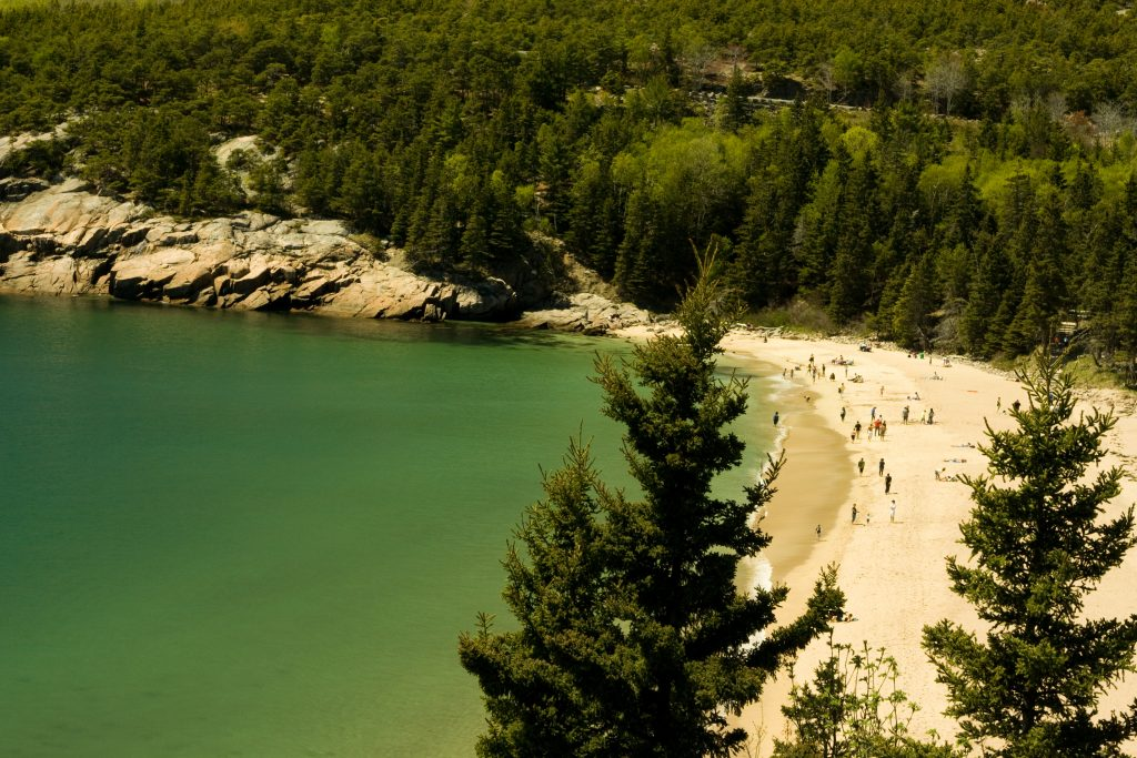 plage Acadia National Park dans le Maine