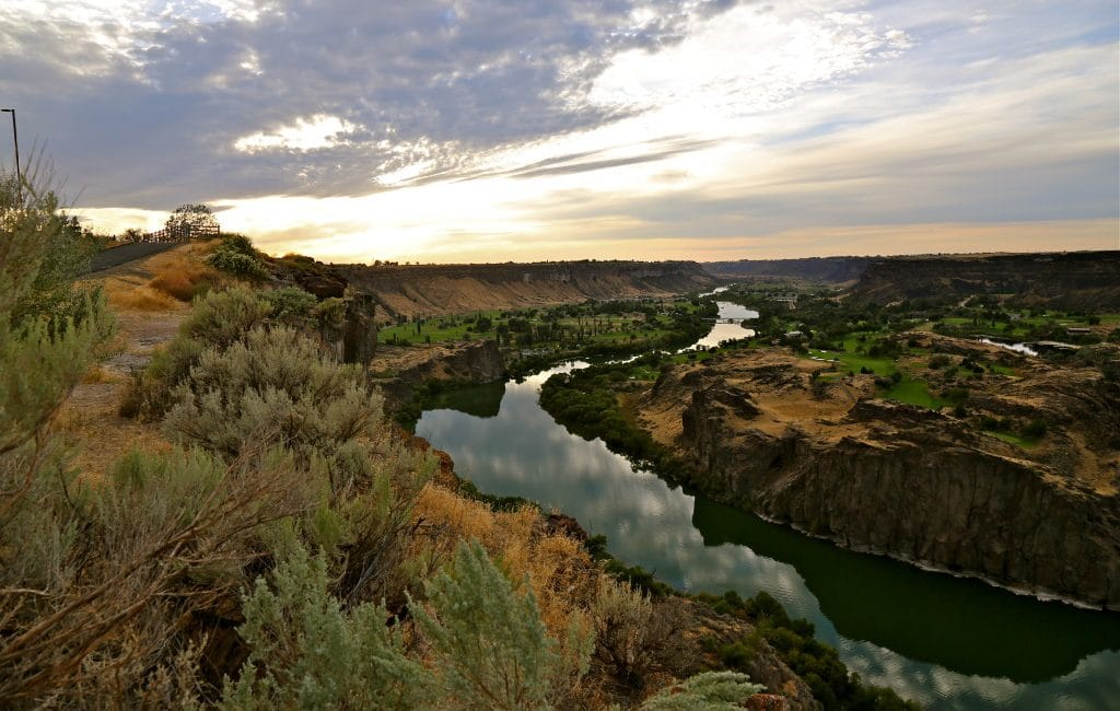 Pêche Idaho sur la Snake River
