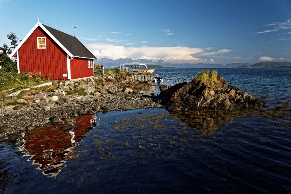 Cabane de pêcheur à Harstad, Norvège