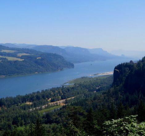 Vue panoramique de la Columbia River