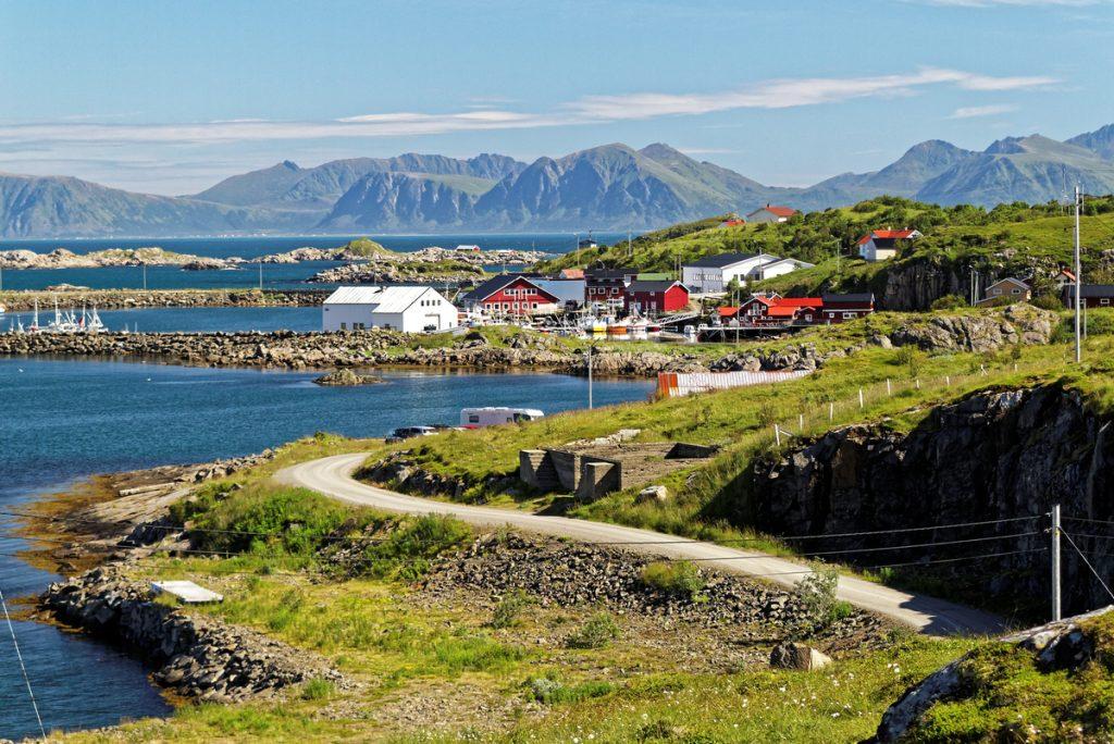 village de Stø en norvège