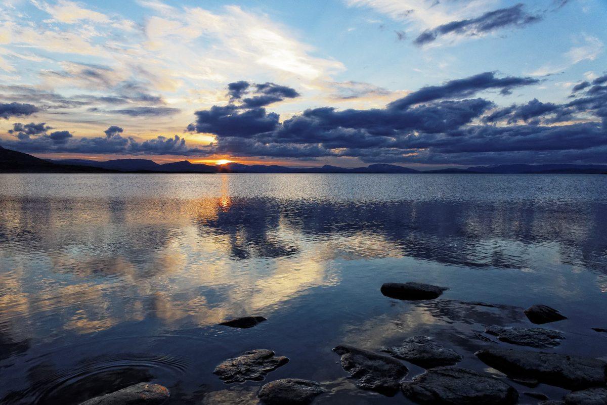 Lac Virihaure à Staloluokta suède