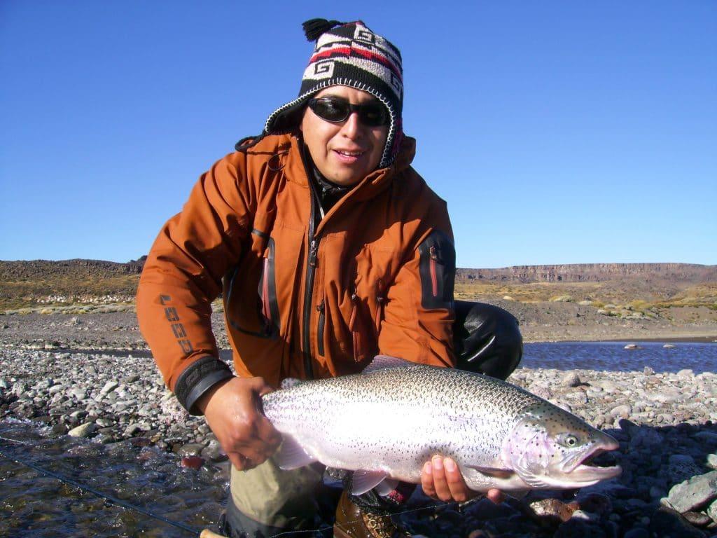 Pêche sur le Rio Gallegos en Patagonie