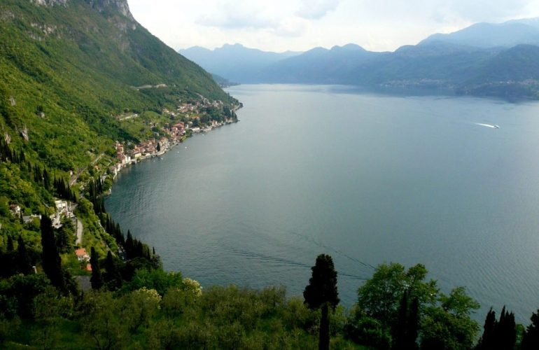 lac de Côme depuis le fort de Varenna