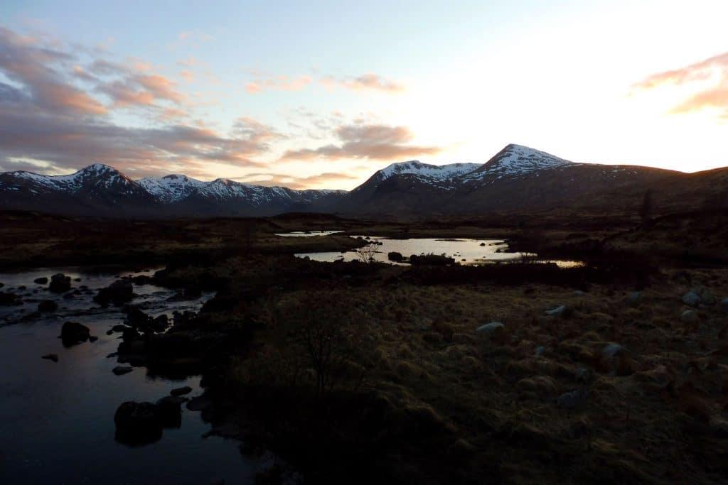 le Loch Ba au coucher du soleil