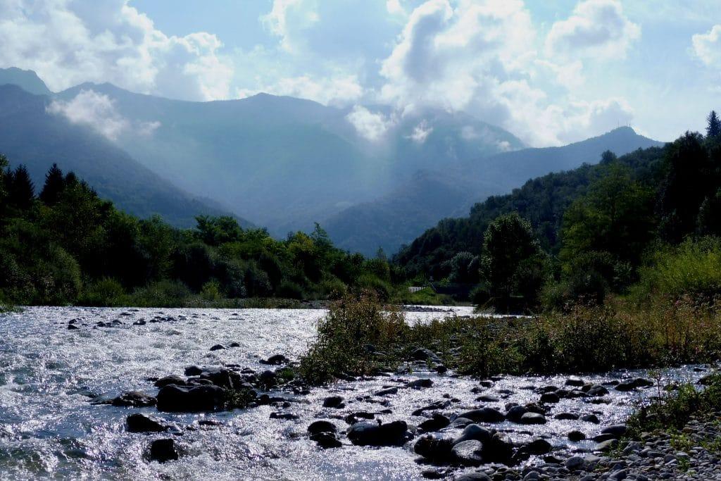 La rivière Pioverna en Lombardie