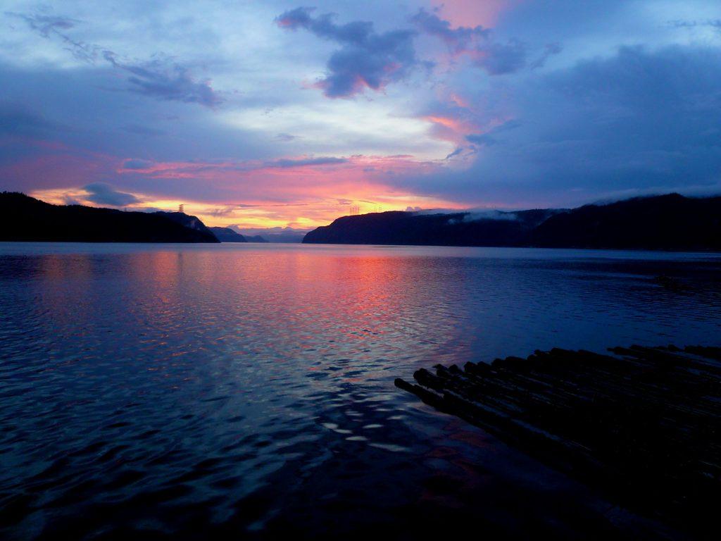 Coucher de soleil sur le Fjord du Saguenay