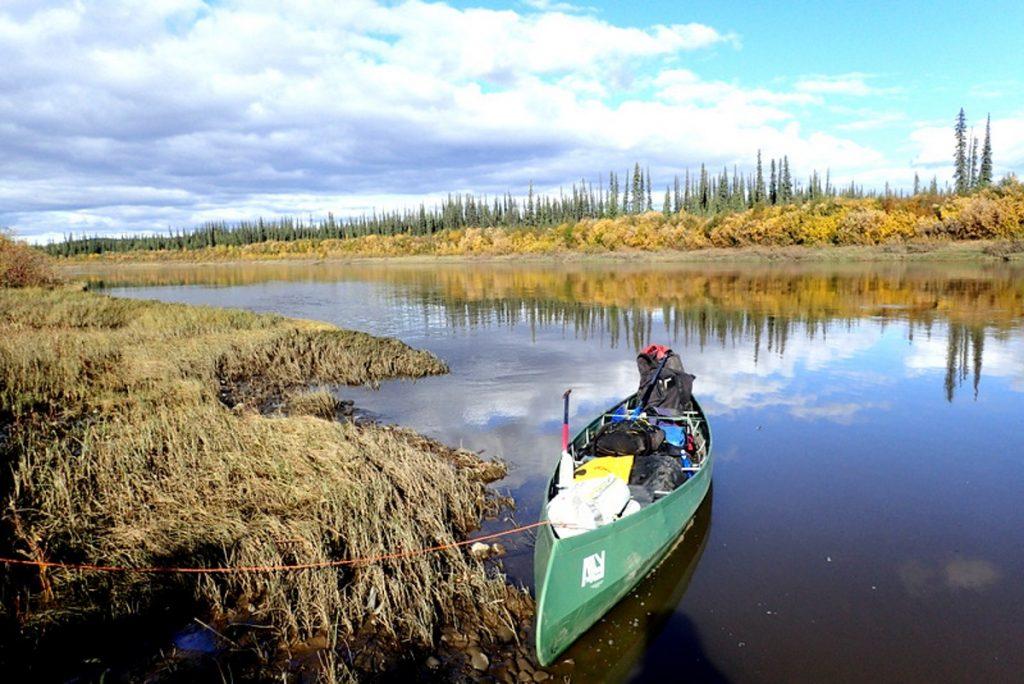 canoé sur la rivière porcupine