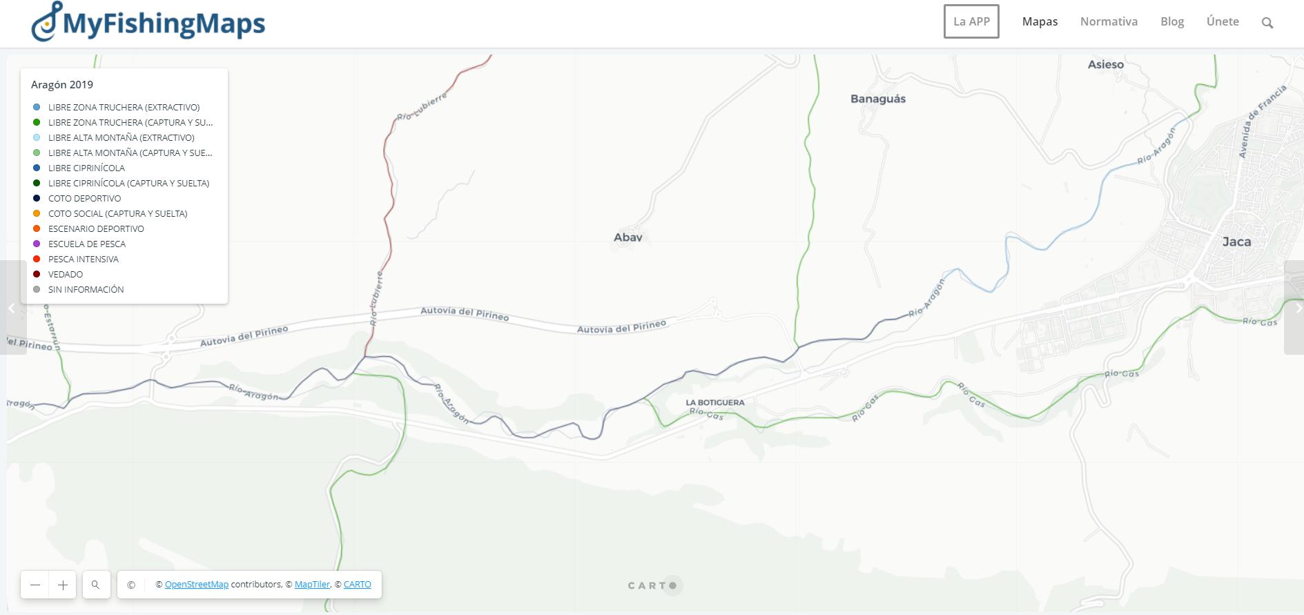 Carte du rio Aragon