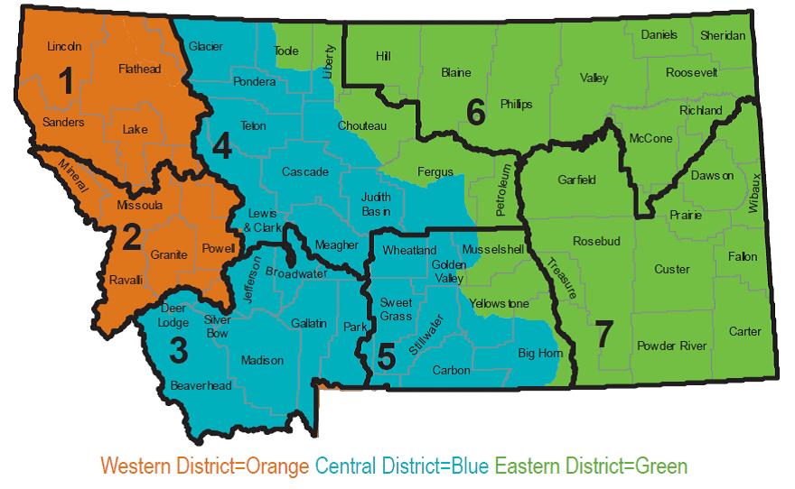 carte du Montana