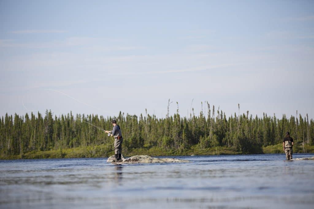 Pêche à la mouche au Québec, sur le Camp Louis Jolliet