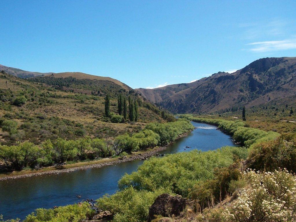 Pêche sur une rivière de Patagonie, en Argentine