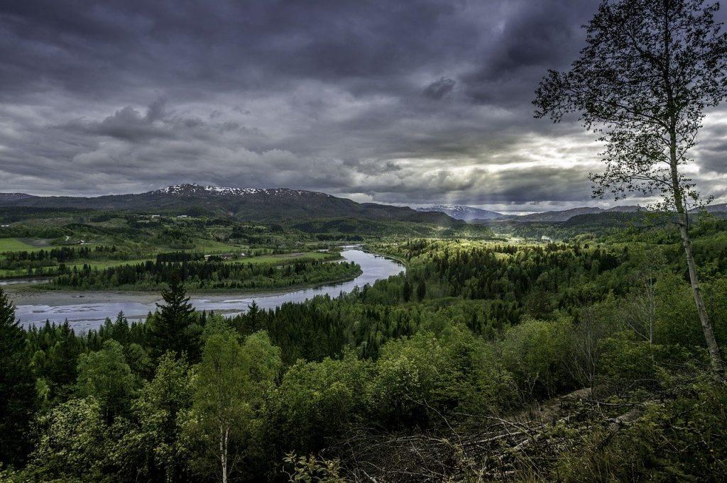 Paysage de pêche en Norvège