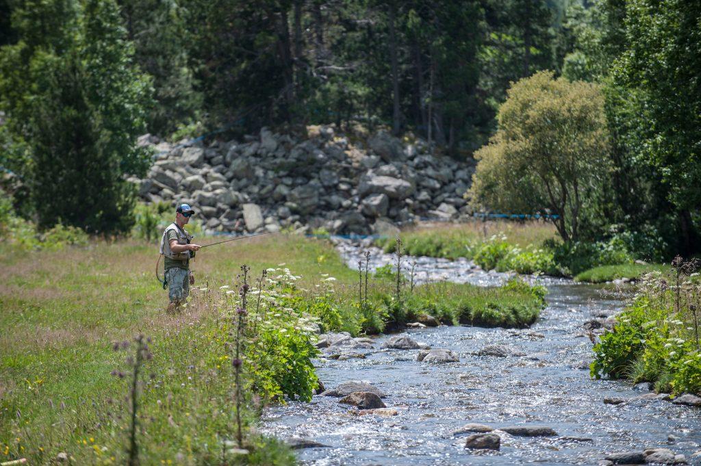 Pêche en Andorre sur des torrents de montagne