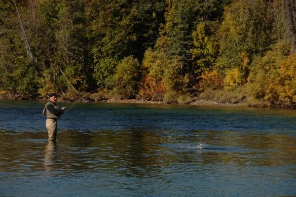 Pêche à la mouche sur la rivière Kathleen