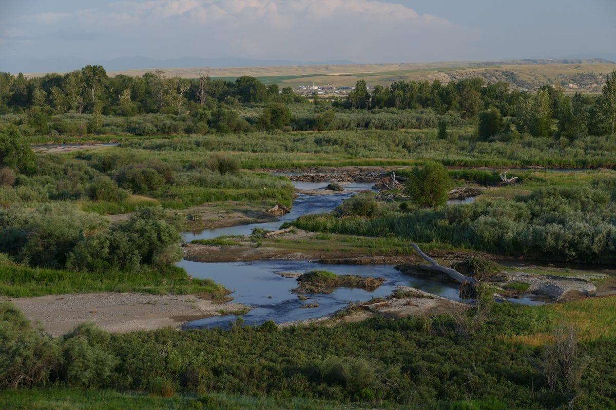 La rivière Gallatin dans le Montana