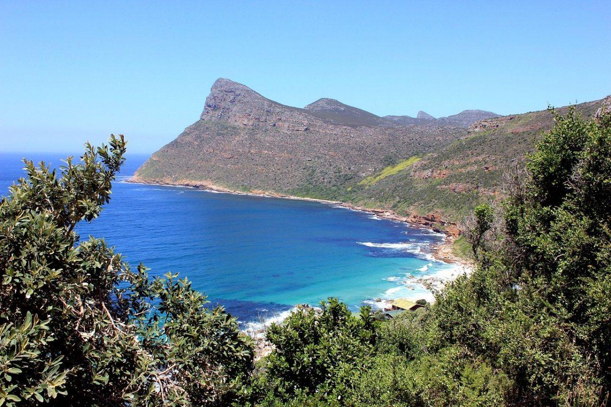 Vue de l'océan en Afrique du Sud