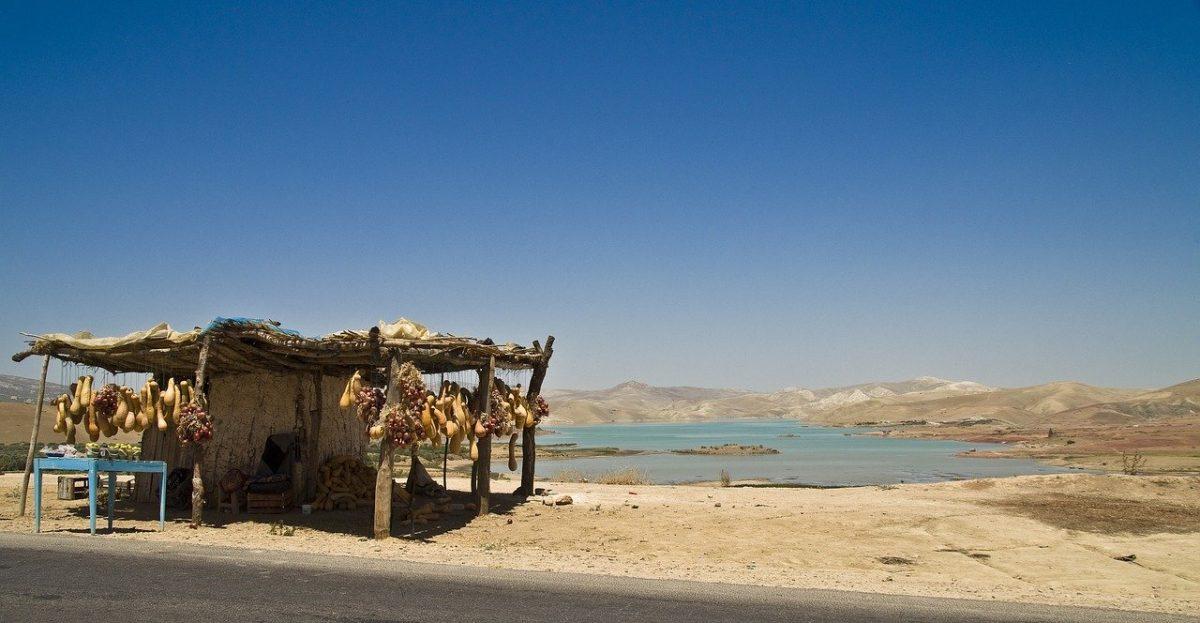 Pêche au Maroc sur un réservoir