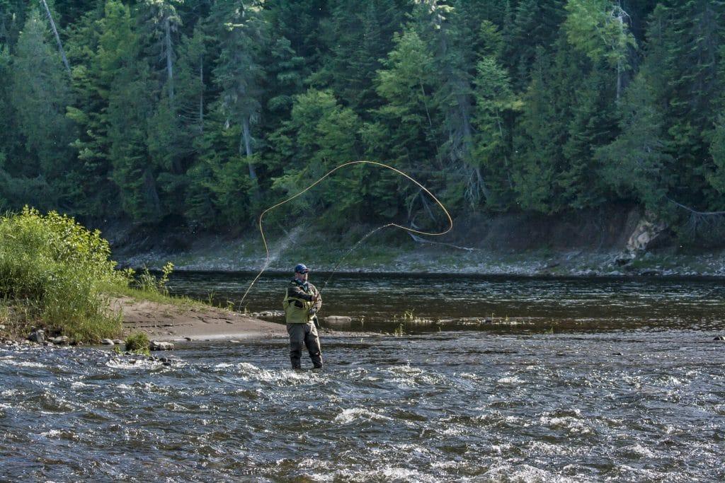 Pêche au saumon à la mouche - Glen Eden Lodge - rivière Restigouche