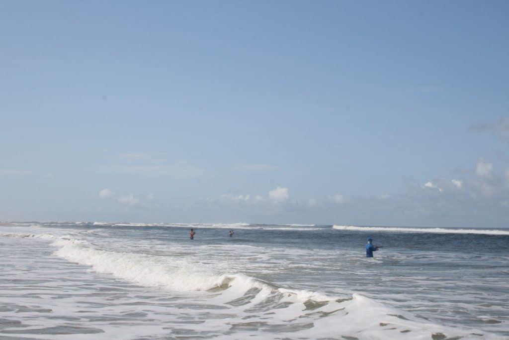 Baïne au nord de l'embouchure d'Iguela au Gabon