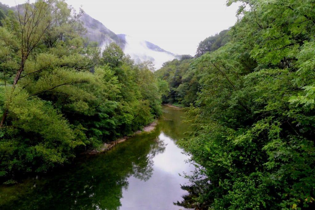 La rivière Idrija en slovénie