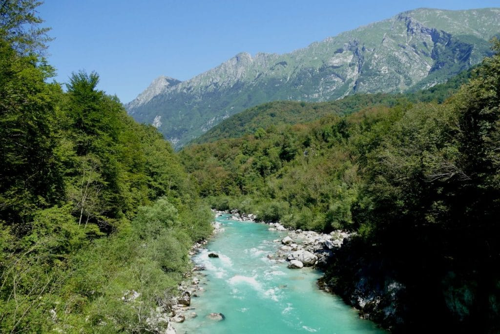 Rivière Soča au niveau de Kobarid