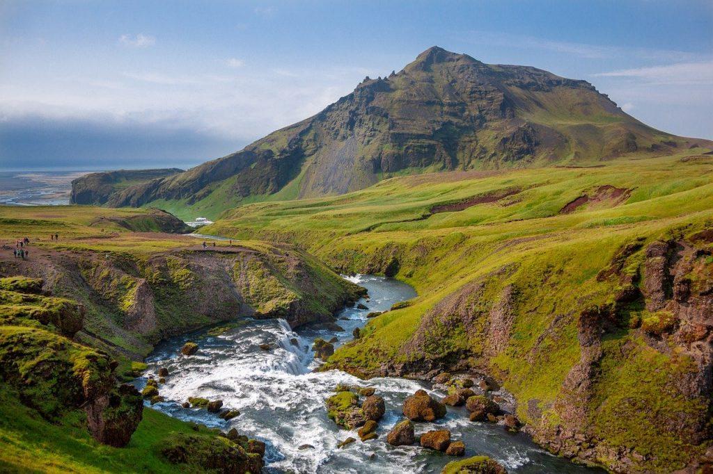 Paysage splendide d'Islande