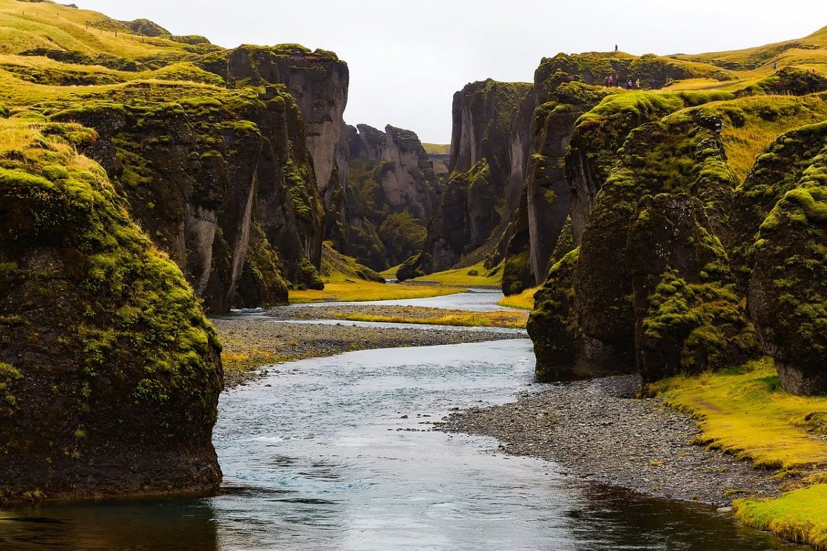 Rivière en Islande, parfaite pour la pêche