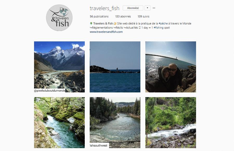 galerie instagram Travelers & Fish