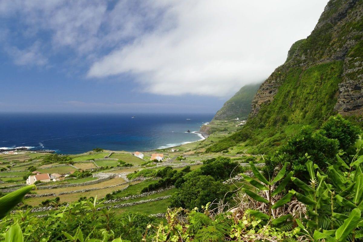 Panorama de Faja Grande aux Açores