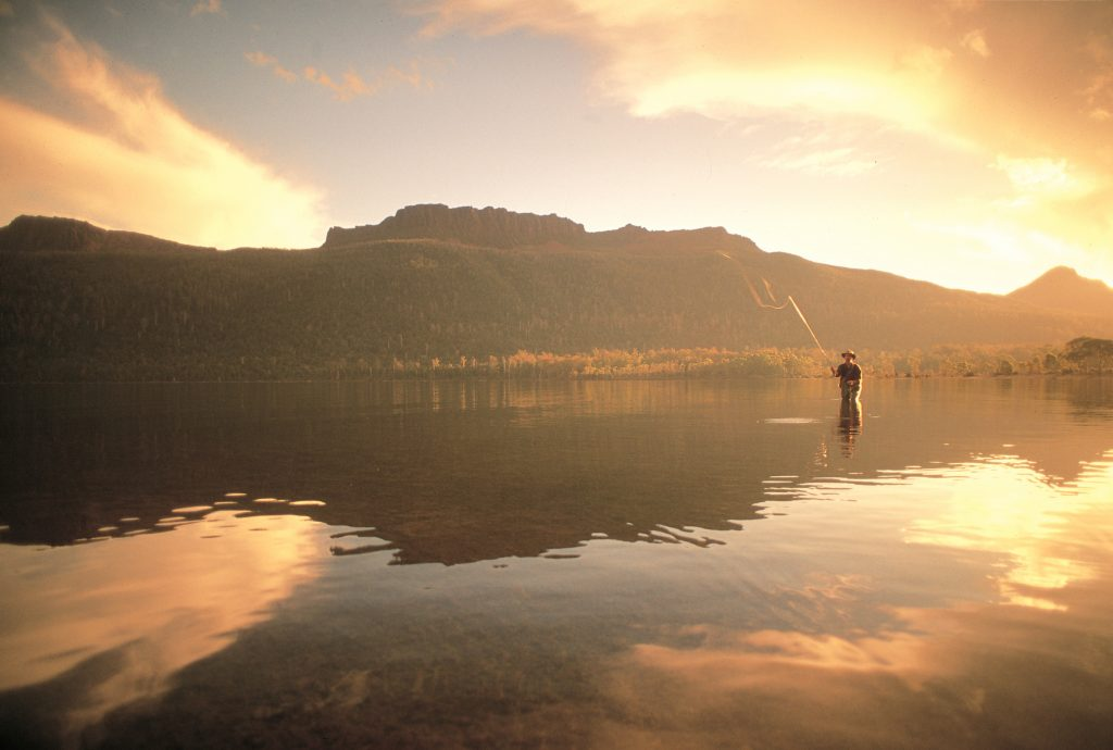 """Trout fishing"" crédit ©Tourism Tasmania & George Apostolidis"