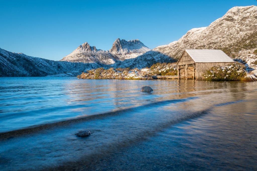 Cradle Mountain in snow, crédit © Paul Fleming