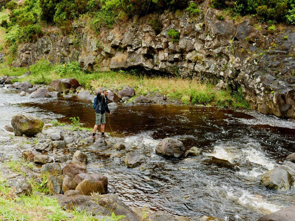 Pêcheur sur Flores (Açores)