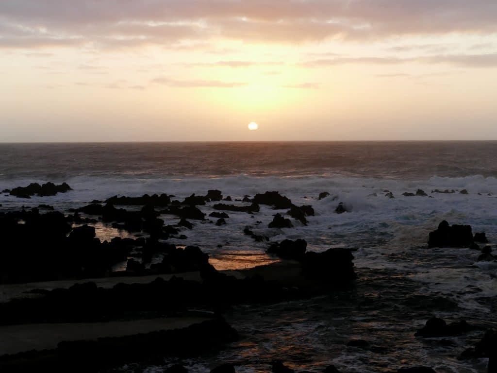 coucher de soleil sur Faja Grande, Flores (Açores)