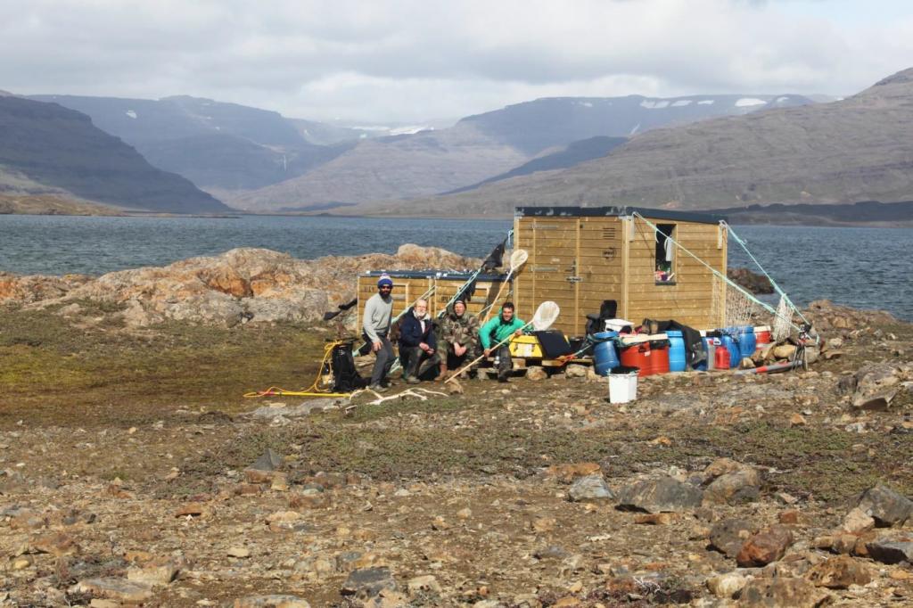 équipes scientifiques sur les îles Kerguelen