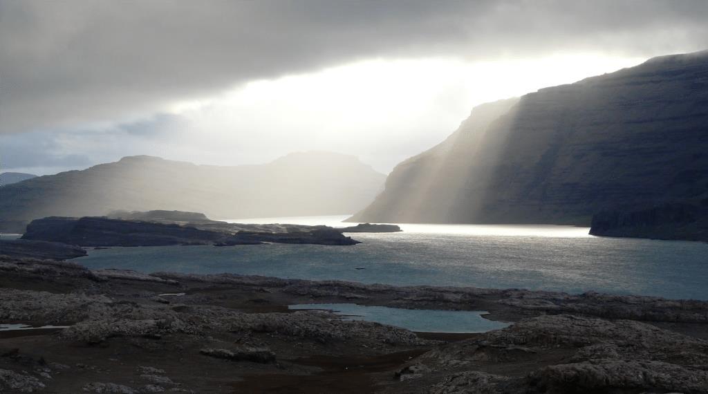 rayon de soleil sur les îles Kerguelen