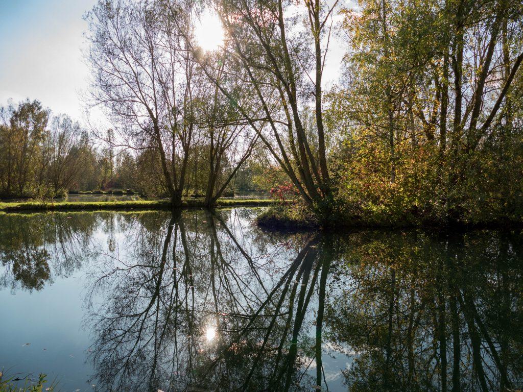 plan d'eau du parcours de pêche du Moulin de Gémages