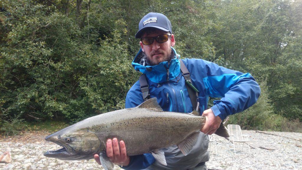 pêcheur sur l'île de Vancouver