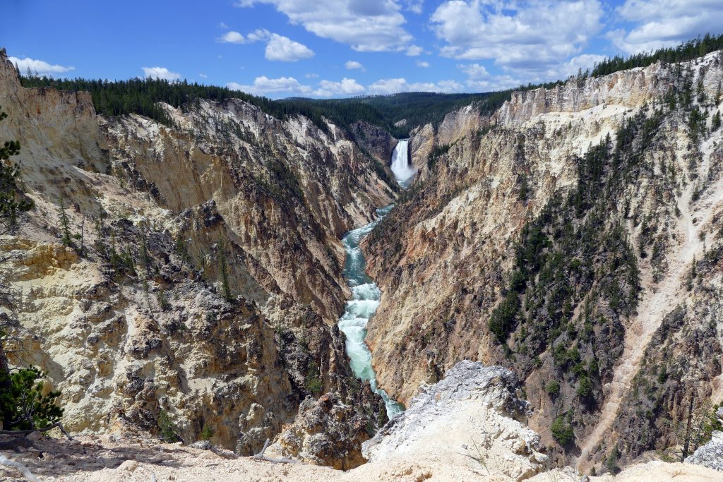 Lower Falls, depuis Artist Point (rivière Yellowstone)