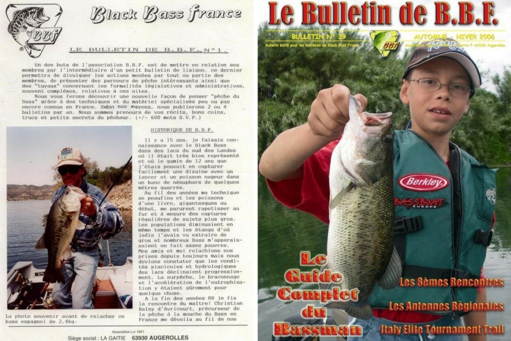 Anciens bulletins de liaison de Black Bass France
