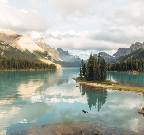Pêche au Canada, dans le Jasper National Park (Alberta)