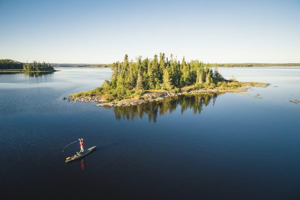 Pêche dans l'Ontario (Wabakami Provincial Park)
