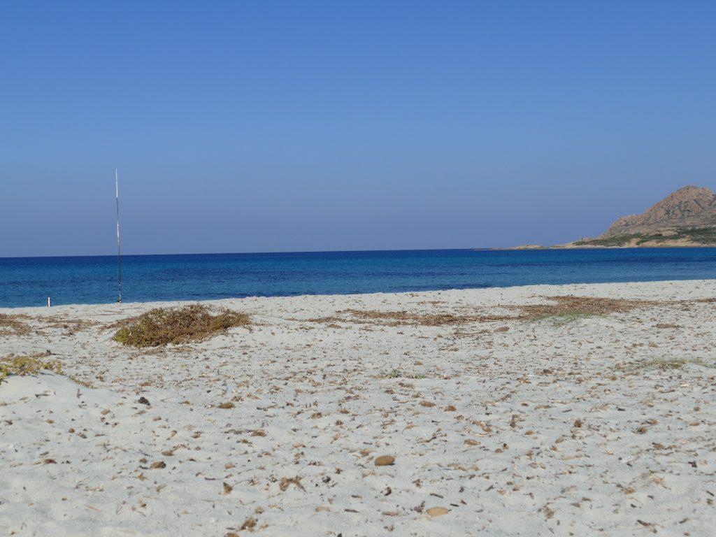 Pêche en mer en Corse sur la plage de l'Ostriconi