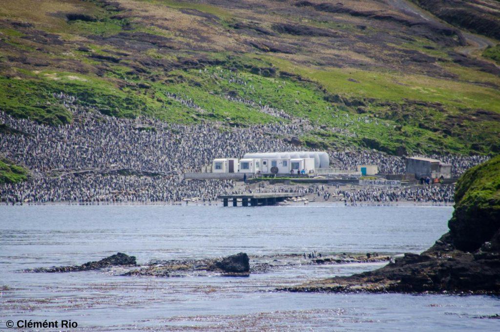 Camp de base sur les îles Kerguelen